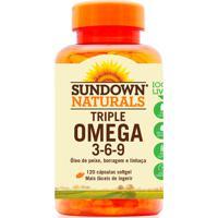 Complexo Vitamínico Sundown Triple Ômega 3-6-9 Sundown Naturals 120 Cápsulas