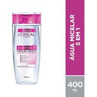 Água Micelar L'Oréal Paris Solução De Limpeza Facial 5 Em 1 400Ml - Feminino-Incolor