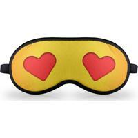 Máscara De Dormir - Emoticon Emoji Amor Geek10 - Amarelo
