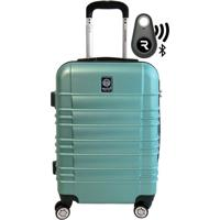 Kit Com Mala De Bordo Double Wheel E Localizador Bluetooth Reaggio - Com Rodas 360º - Santino Verde