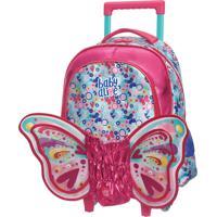 Mala C/Carrinho Baby Alive Butterfly Rosa