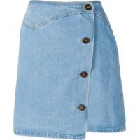 Nanushka Saia Jeans Amita 80'S - Azul