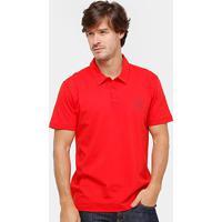 Camisa Polo Forum Malha Silk New Logo Masculina - Masculino-Vermelho