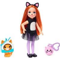 Boneca Barbie - Club Chelsea - Festa À Fantasia - Gatinho - Mattel