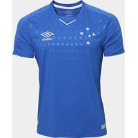 Camisa Do Cruzeiro I 19/20 S/N° Torcedor Umbro Masculina - Masculino