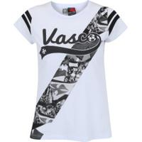 Camiseta Do Vasco Da Gama Player - Feminina - Branco