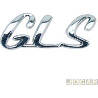 """Letreiro - Alternativo - Accent 1994 Até 2001 - """"Gls"""" - Cromado - Cada (Unidade)"""