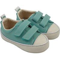 Tênis Infantil Couro Catz Calçados Noody Velcro - Unissex-Verde