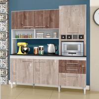 Cozinha Compacta Ébano 6 Pt 2 Gv Champanhe E Chocolate