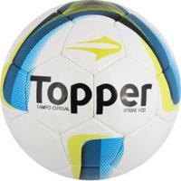 Bola De Futebol De Campo Topper Strike Viii - Branco Azul 0b55bb0b747d6