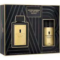 Kit 1 Perfume Masculino The Golden Secret Antonio Banderas 100Ml + 1 Pós Barba 75Ml - Masculino-Incolor