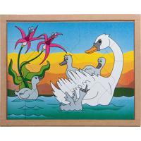 Conjunto De Quebra-Cabeças Animais & Filhotes Cisne- Begcarlu