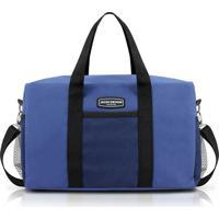 Bolsa De Viagem E Academia Jacki Design Poliéster - Unissex-Azul