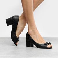 Peep Toe Shoestock Salto Grosso Matelassê - Feminino