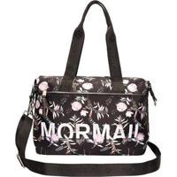 Bolsa Shopping Bag De Nylon Estampada Floral Mormaii Feminina - Feminino-Preto