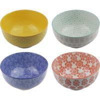Jogo De Bowls- Amarelo & Azul- 4Pã§Sbtc Decor