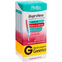 Ibuprofeno Medley 30Ml Suspensão Oral