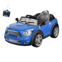 Carro Infantil Eletrico Conversivel 6V Com Controle Remoto - Unissex-Azul