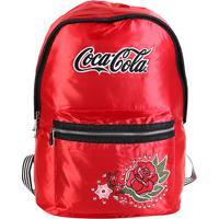 1d135d3f3 Netshoes  Mochila Coca-Cola Vintage Rose Bordada Floral - Feminino