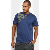 Camiseta Adidas Freelift Sport Graphic Masculina - Masculino-Cinza+Marinho
