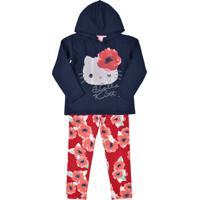 Conjunto Hello Kitty Infantil Azul