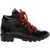 Short Boot Sola Tratorada Black Verniz | Schutz