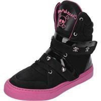 Sneaker Eagle Black Fitness Feminino - Feminino-Preto+Rosa