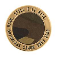 Northskull Broche Com Gravação - Dourado