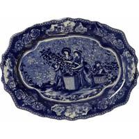 Prato De Parede Decorativo De Porcelana Glyon
