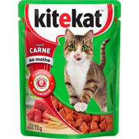 Ração Para Gatos Kitekat Adulto Sabor Carne 70G