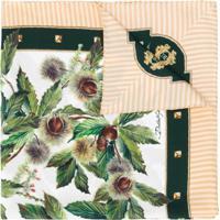 Dolce & Gabbana Echarpe De Seda Com Estampa Chestnut - Verde