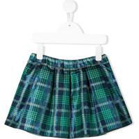 Miss Blumarine Checked Print Skirt - Azul