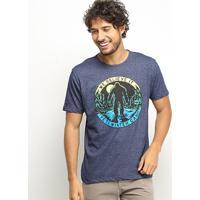 Camiseta Hd Winter Camp Masculina - Masculino-Azul