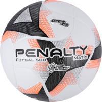 Bola De Futsal Penalty Matís 500 Termotec Viii - Branco Laranja edd8e905c30da