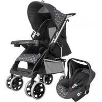 Carrinho De Bebê Com Bebê Conforto - Tutti Baby Thor 0 A 15Kg - Unissex-Preto