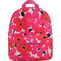 Mochila Floral- Rosa & Vermelha- 38X29,5X12,5Cm-Jacki Design