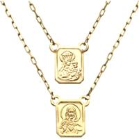 Escapulario Prata Mil Ouro Sagrado Coração De Jesus E Nossa Senhora Do Carmo Ouro