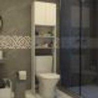 Armário Banheiro P/ Vaso Sanitário Com 2 Portas Aspen Multimóveis Branco