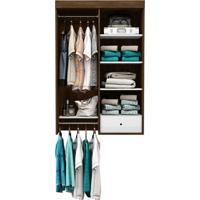 Guarda-Roupa Closet Modulado Euforia Cedro E Branco
