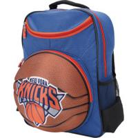 Mochila Nba New York Knicks 3D Bola - Infantil - Azul/Marrom