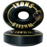Roda Lyon 53Mm Standard 95A Para Skate Iniciante Preto
