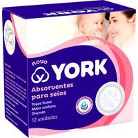 Absorvente Para Seios York Com 12 Unidades