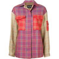 Etro Camisa Xadrez Color Block - Roxo