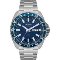 Relógio Orient Masculino Mbss2027 D1Sx Pulseira E Caixa Aço Prateado Mostrador Azul
