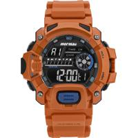 Relógio Digital Mormaii Masculino - Mozm11328L Laranja