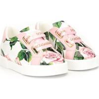 Dolce & Gabbana Kids Tênis Portofino Com Estampa De Rosas