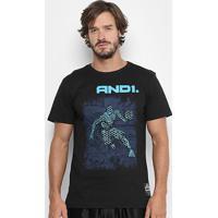 Camiseta And1 Comic Player Masculina - Masculino-Preto