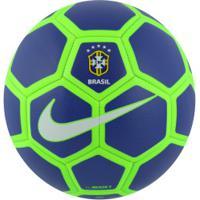 ... Bola De Futsal Da Seleção Brasileira Menor X Nike - Azul Verde Cla a4ede262da21a