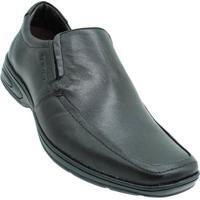 Sapato Conforto Couro Tonifran Masculino - Masculino-Preto