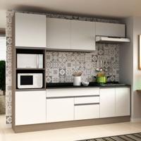 Cozinha Compacta Veneza 8 Pt 2 Gv Carvalle Com Branco